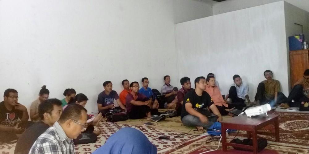 peserta kelas 7 tekhnik promosi gratis powerfull bersama Ahmad Jayadi di Komunitas Sedekah Ilmu